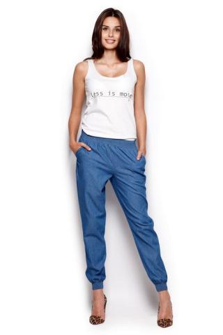 Dámské kalhoty FIGL M307 modré