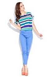 Dámské kalhoty Katrus K021 světle modré