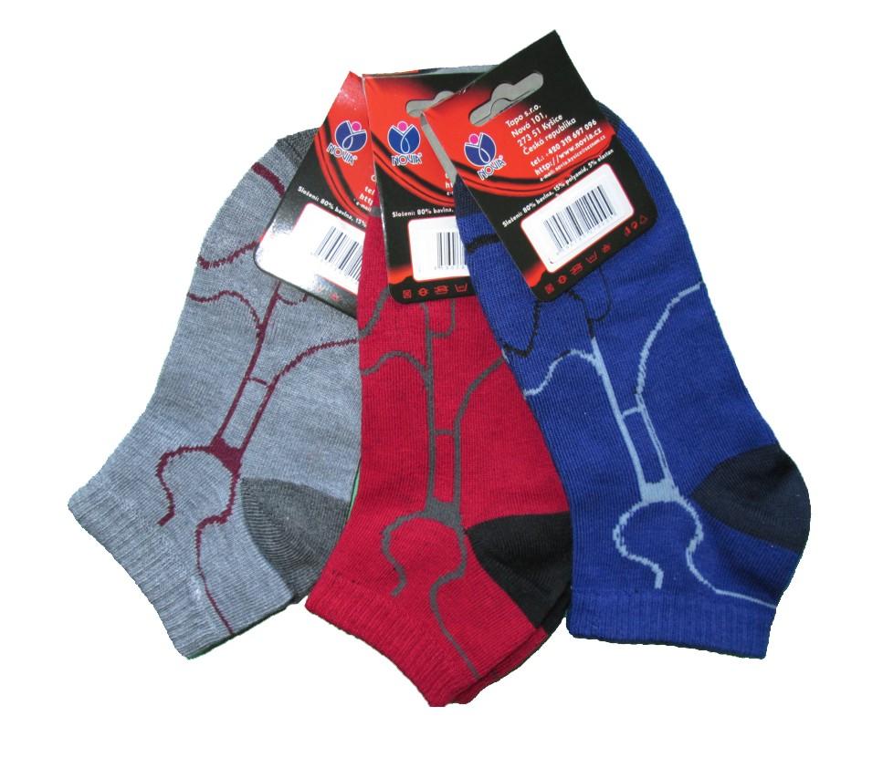 Dámské kotníkové ponožky Novia 404 - 3 páry - Novia (Ponožky dámské ... 1dba0979bd