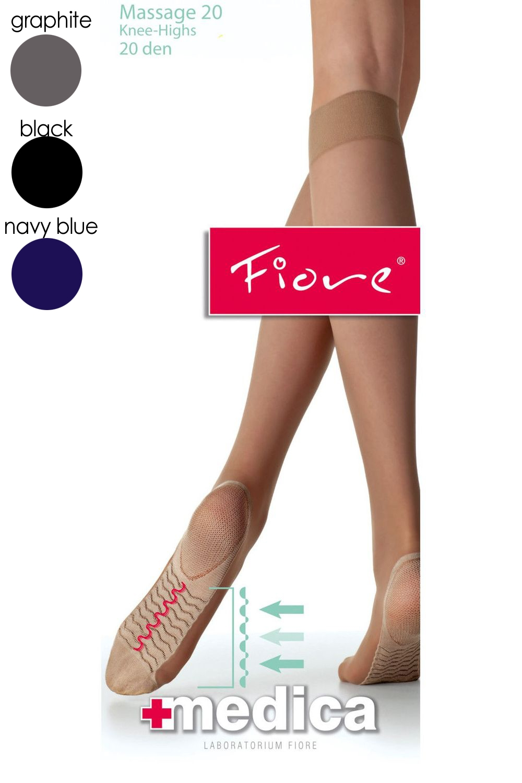 Dámské nadkolenky Fiore 2001 modré - FIORE (Punčochové kalhoty a ... 73af8c152b