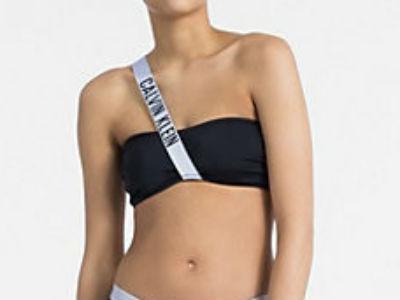 Dámské plavky Calvin Klein KW0KW00210 podprsenka černá