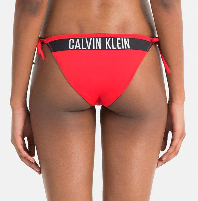 3eacf2607d Dámské plavky Calvin Klein KW0KW00215 kalhotky červené - Calvin ...