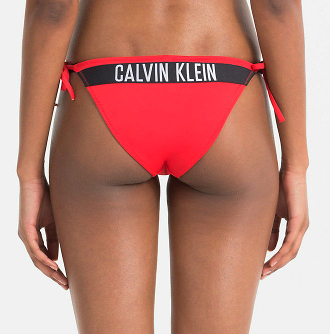 8e022045834 Dámské plavky Calvin Klein KW0KW00215 kalhotky červené - Calvin ...