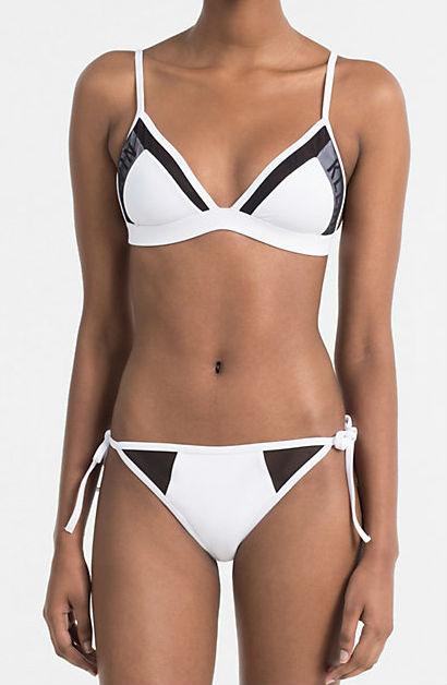 Dámské plavky Calvin Klein KW0KW00227 bílé - Calvin Klein (Akce a slevy) db5061e441