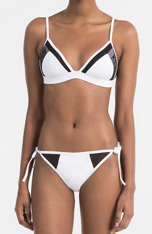 Dámské plavky Calvin Klein KW0KW00227 bílé