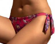 Dámské plavky Lormar SLIP FLORAL LACCI - zavazovací kalhotky