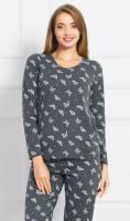 Dámské pyžamo dlouhé Vienetta Secret Butterflies