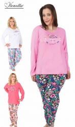 Dámské nadměrné pyžamo Vienetta Secret Elegance