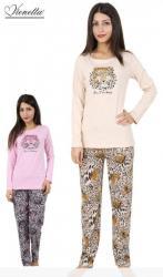 Dámské pyžamo dlouhé Vienetta Secret Hana