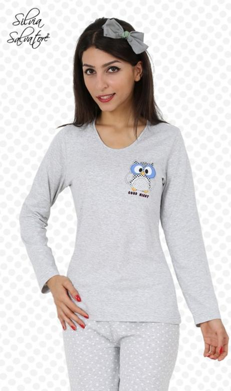 eb6661c4926b Dámské pyžamo dlouhé Vienetta Secret Sova Good Night - (Dámské ...
