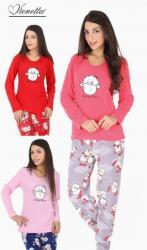Dámské pyžamo dlouhé Vienetta Secret Velká ovce
