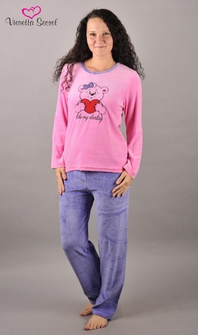 1b79771d9fb Dotazy k produktu Dámské pyžamo dlouhé velurové Vienetta Secret ...