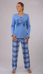 Dámské pyžamo dlouhé Vienetta Secret Auto
