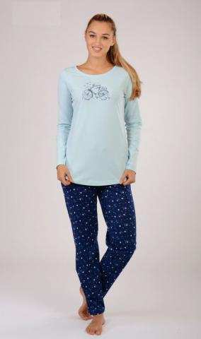 Dámské pyžamo dlouhé Vienetta Secret Bicykl
