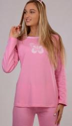 Dámské pyžamo dlouhé Vienetta Secret Ema růžové