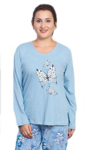 Dámské pyžamo dlouhé Vienetta Secret Izabela