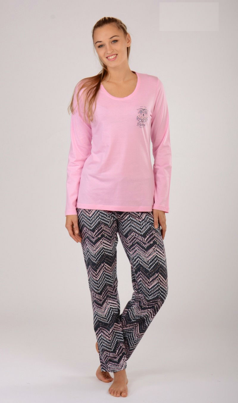 529a0e21c6ac Dámské pyžamo dlouhé Vienetta Secret Malá Sova - Vienetta Secret ...