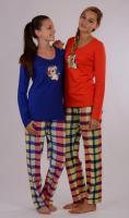 Dámské pyžamo dlouhé vienetta Secret Pes a polštář