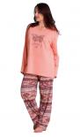 Dámské pyžamo dlouhé Vienetta Secret Velký motýl