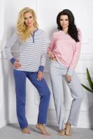 Dámské pyžamo TARO 1187 Rebeka pink-grey