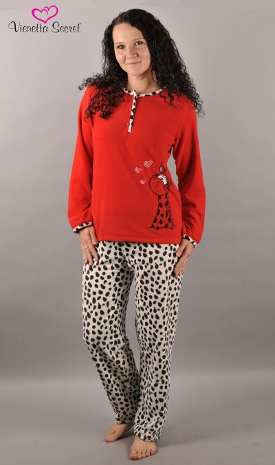 1717130f9b6 Dámské pyžamo Vienetta Secret dlouhé dekové Giraffe - Vienetta ...