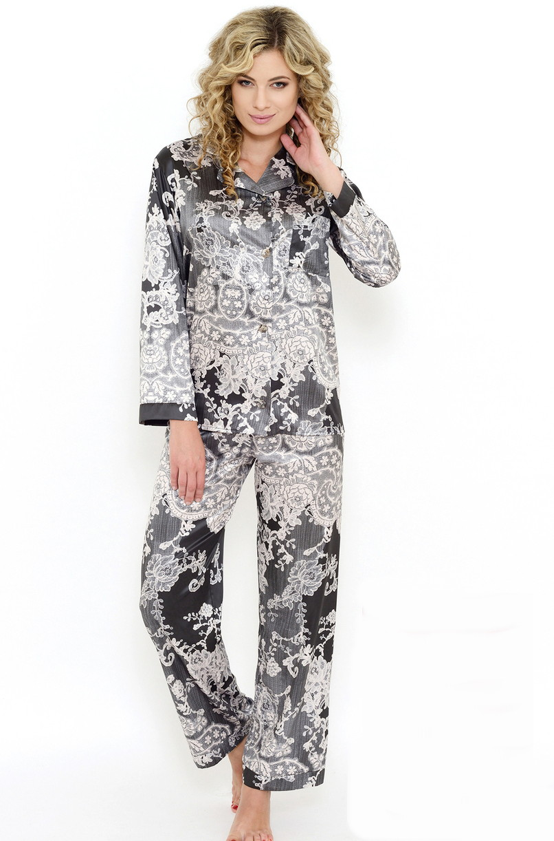 8a3440454c8 Dámské saténové pyžamo Follia Rosanne - Follia (Dámské pyžama ...
