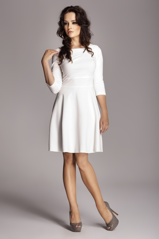 25678ae6c421 Dámské šaty FIGL M081 krémové - FIGL (Šaty