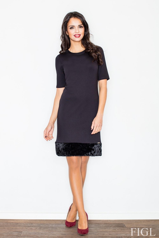 ff4cd3ffa84 Dámské šaty FIGL M429 černé - FIGL (Šaty