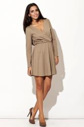 Dámské šaty Katrus K116 béžové