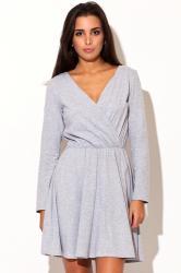 Dámské šaty Katrus K116 šedé