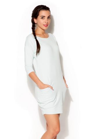 Dámské šaty Katrus K181 mátové