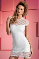 Dámské šaty Obsessive Dressita bílé XXL