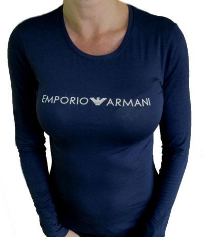 Dámské tričko Emporio Armani 163229 8A317 modré