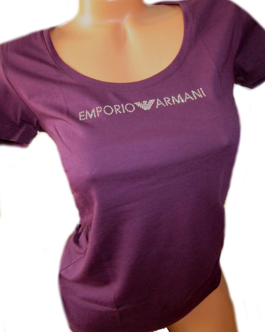 a7f07d1bfc70 Dámské tričko Emporio Armani 163377 9P263 fialové - Emporio Armani ...