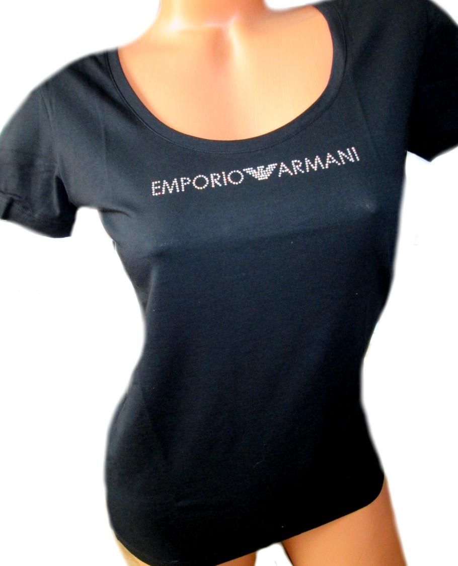 abc3d167459a Dámské tričko Emporio Armani 163377 9P263 Swarovski - Emporio Armani ...