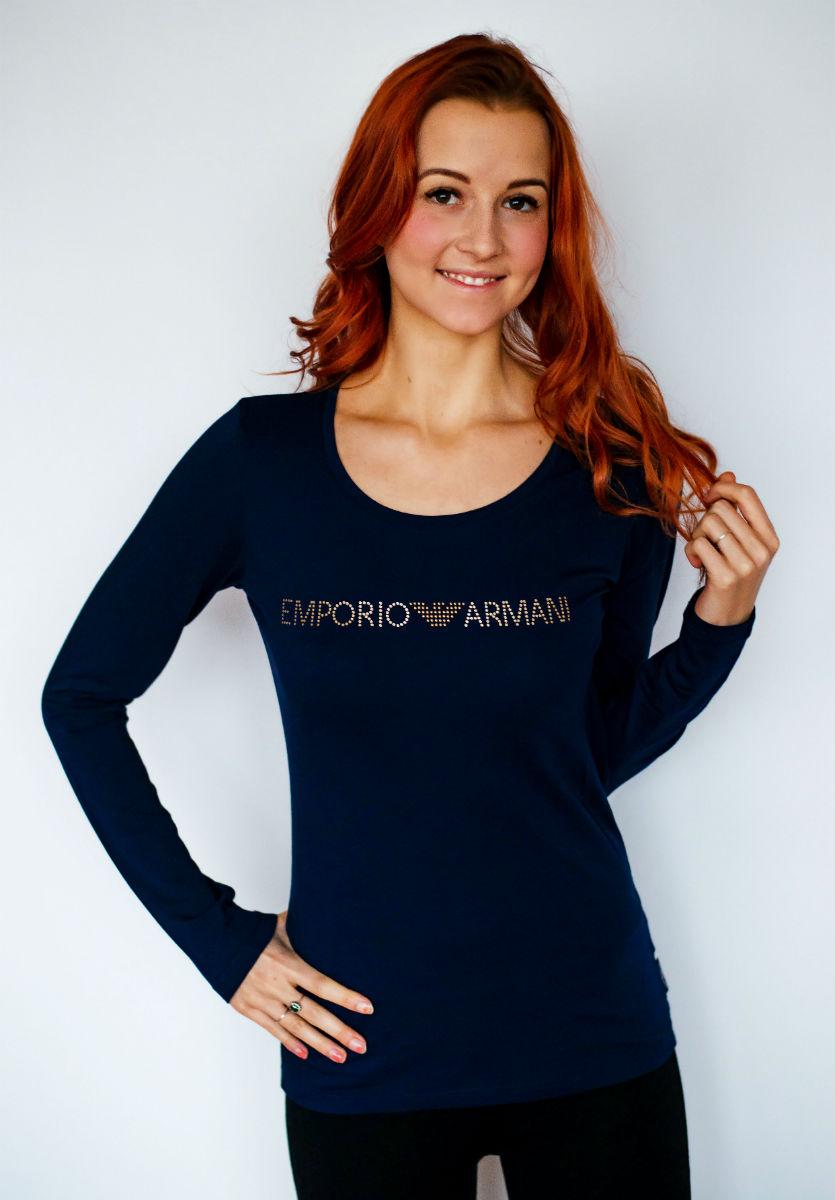Dámské tričko Emporio Armani 163378 8A263 tmavě modré - Emporio ... d45bc8b7992