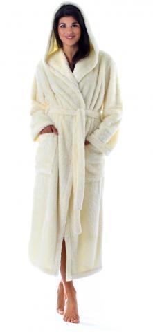 Dámský dlouhý župan s kapucí Vestis 3120 Lilly Extra