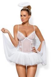 Dámský erotický kostým Obsessive Swangel bílý
