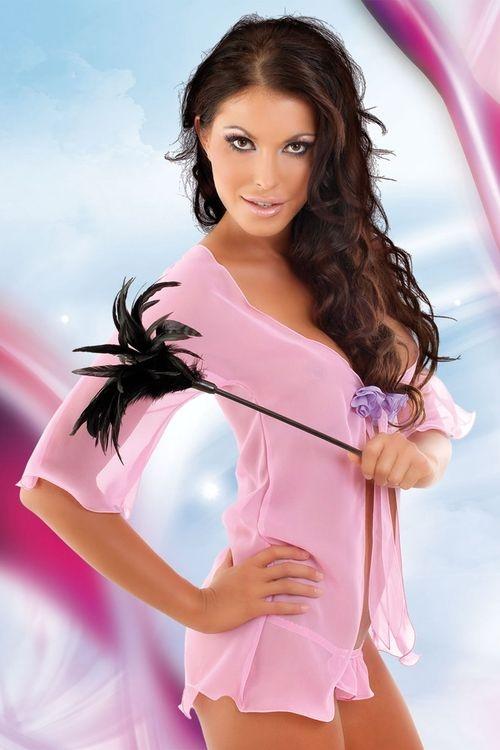 5cc30c04a Dámský erotický župan Softline collection Velia pink - Softline ...