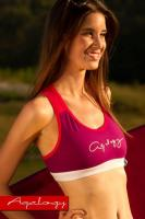 Dámský fitness top Aqalogy Sunset Grape
