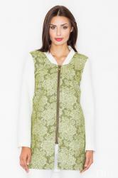 Dámský kabát FIGL M513 zelený