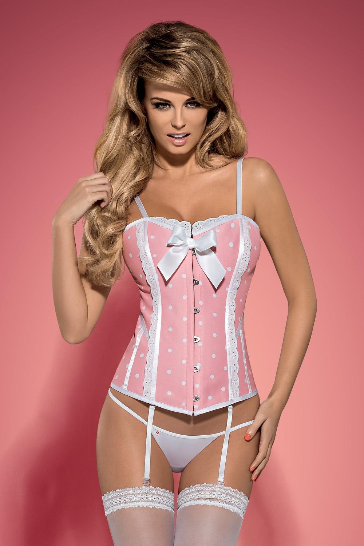 8974c34489e Dámský korzet Obsessive Dottie corset pink - Obsessive (Korzety ...