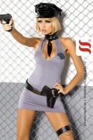 Dámský kostým Obsessive Police dress XXL