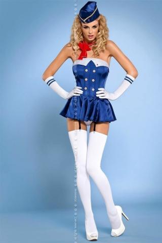 Dámský kostým Obsessive Stewardess corset