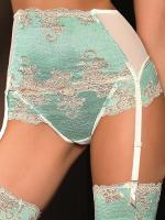 Dámský podvazkový pás ROZA Caryca stocking belt krémový