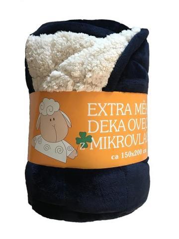 Deka mikrovlákno Ovce prošev tmavě modrá/bílá