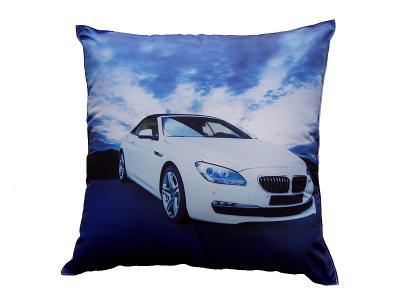 Dekorativní fotopolštářek Dadka Bílé BMW
