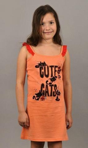Dětská noční košile na ramínka Vienetta Secret Kočky