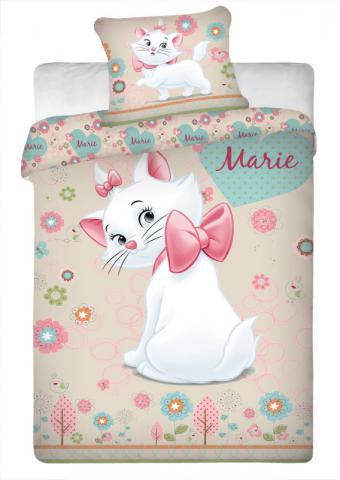Dětské bavlněné povlečení Disney Marie Cat yellow
