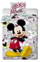 Dětské bavlněné povlečení Disney Mickey grey